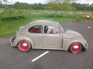 VW bug sti side