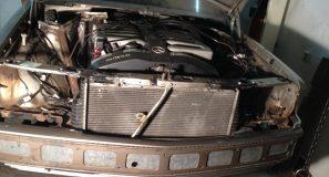 190 V12 bumper installed