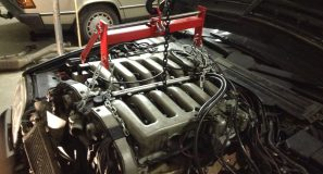 190 V12 Project build Engine removed from the W140