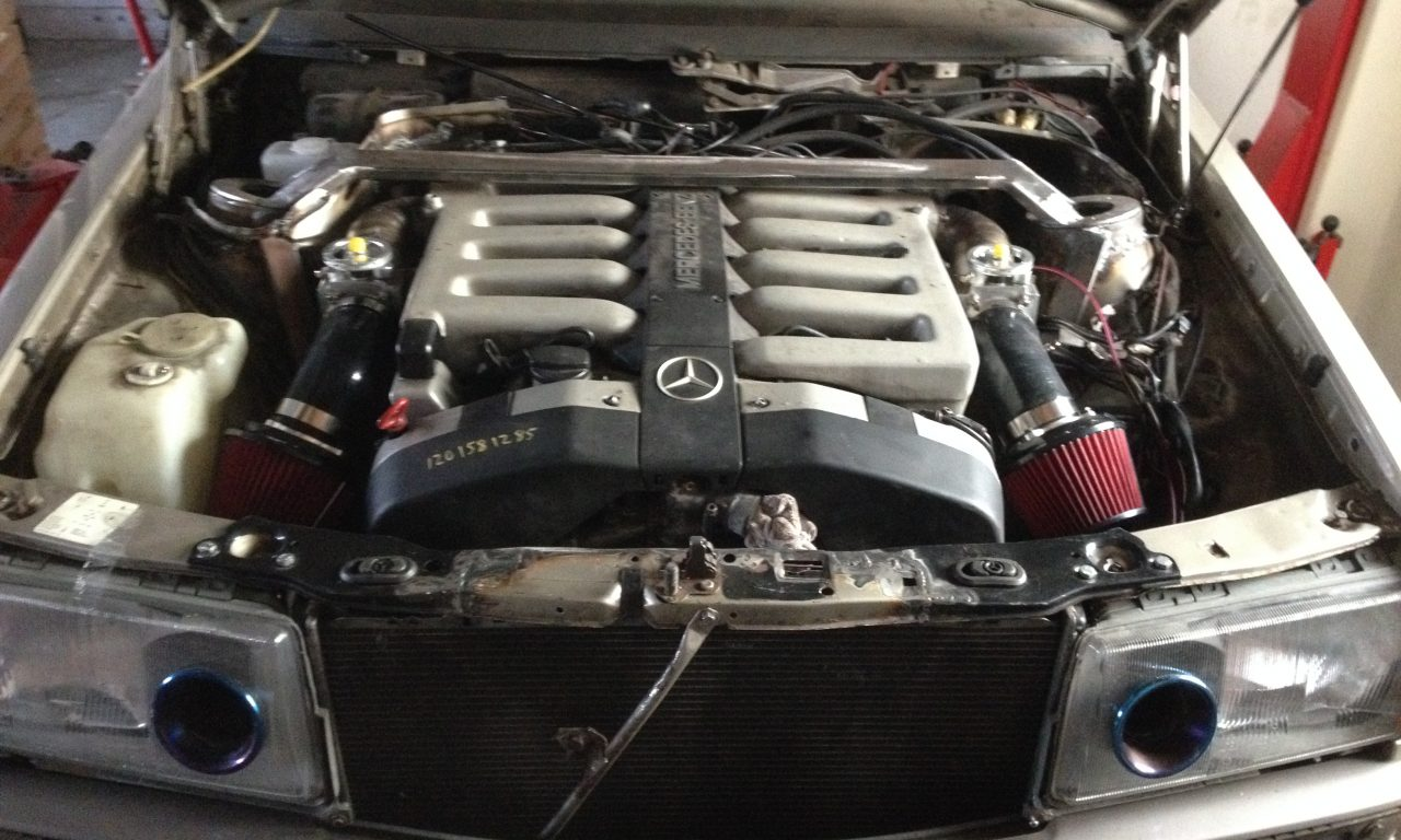 Mercedes 190 V12 project engine swap