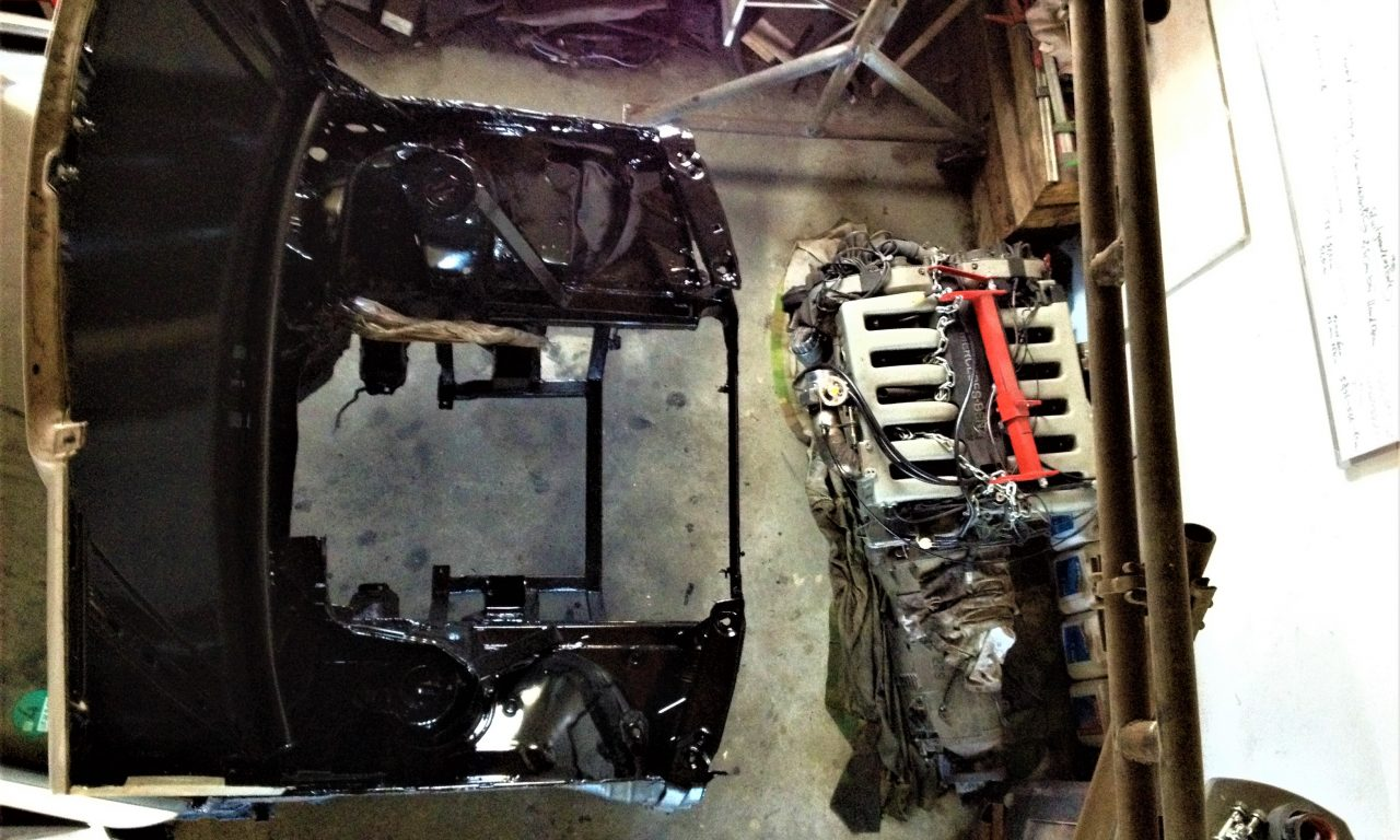 engine bay coating done!!