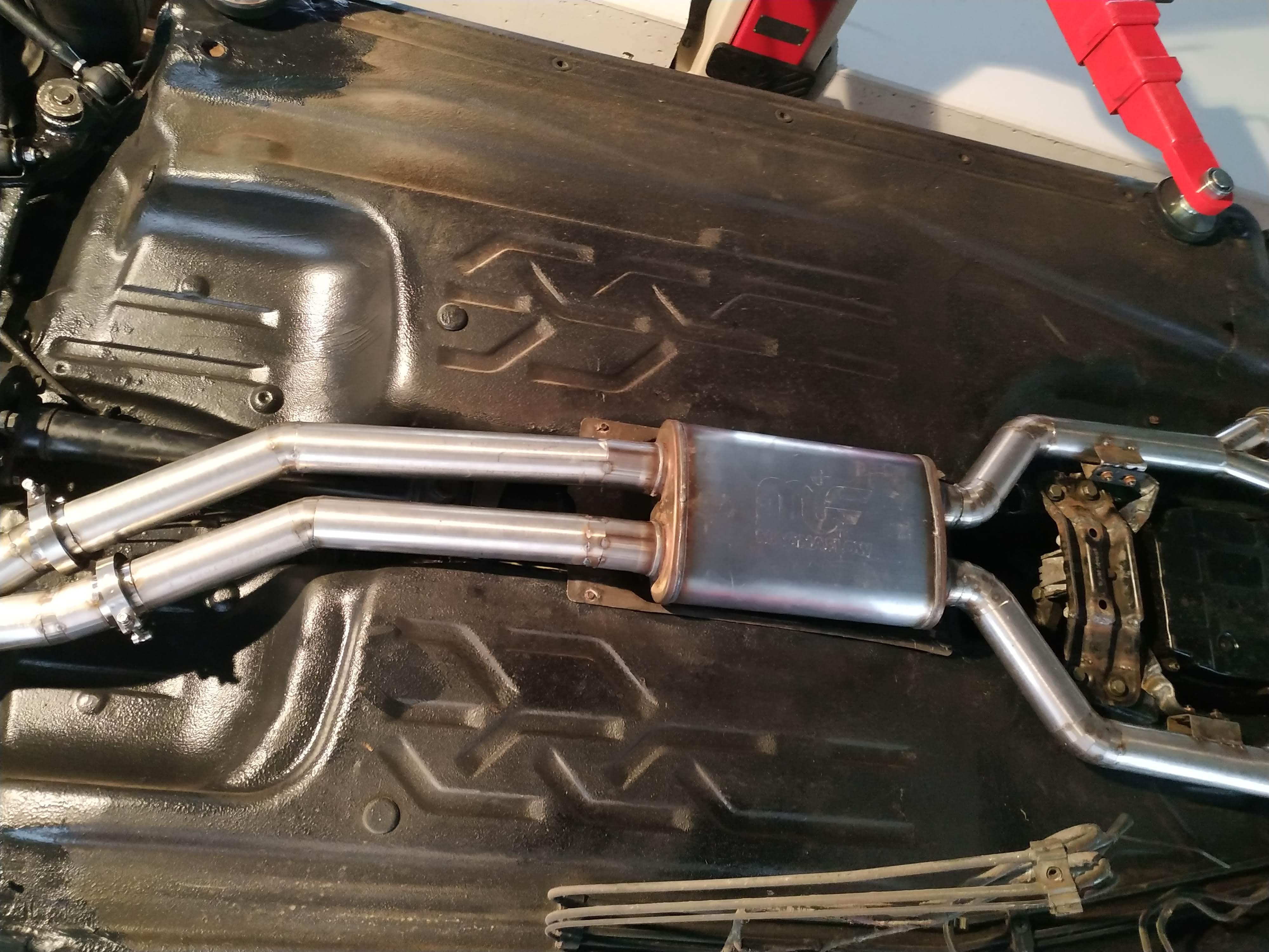 Custom Exhaust Build For W201 V12 Engine Swap 3