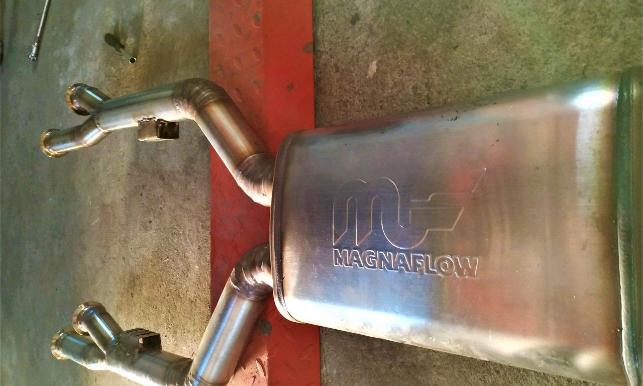 Welding the Custom Exhaust 190 v12 3