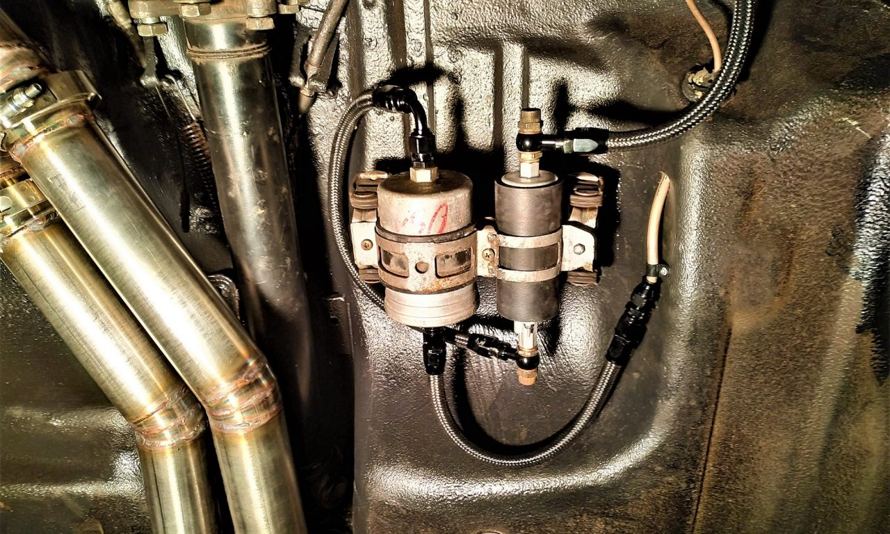 Fuel Pump & Lines installed under the V12