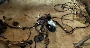W201 V12 Seatbelt explosion and wiring harness