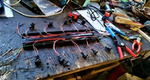 Making an engine wiring harness for the W201 V12 1