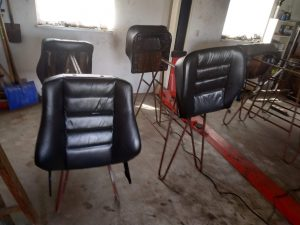 Leder interior restore & color change Mercedes 2.3 16V interior 2