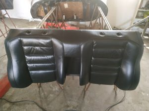 Leder interior restore & color change Mercedes 2.3 16V interior 3