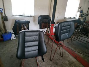 Leder interior restore & color change Mercedes 2.3 16V interior 6
