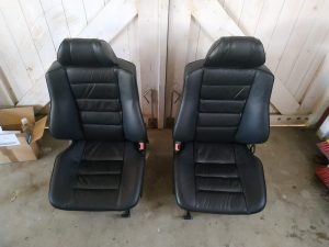 Leder interior restore & color change Mercedes 2.3 16V interior 9