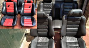 Leder interior restore & color change Mercedes 2.3 16V interior
