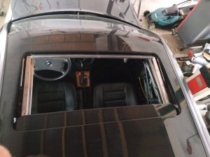 W201 sunroof removal & placement