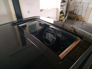 W201 sunroof removal & placement 3