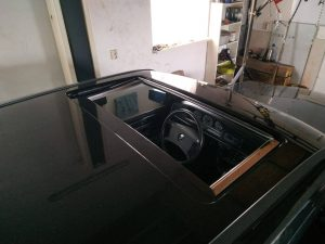 W201 sunroof removal & placement 4
