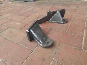 Engine mounts done Mercedes V8 turbo project 1