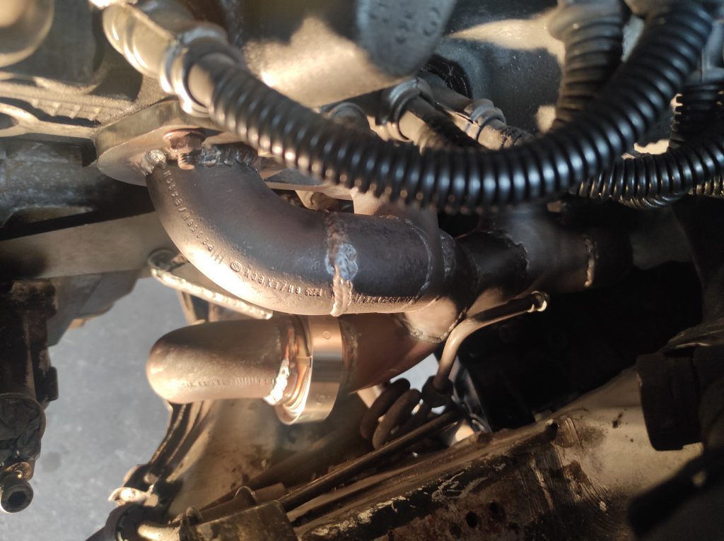 M113 turbo manifolds done & steeringbox clearance solved 4