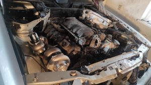 Mercedes M113 V8 Turbo & Wastgate in place 1