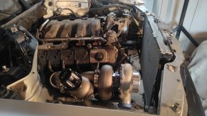 Mercedes M113 V8 Turbo & Wastgate in place 2