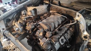 Mercedes M113 V8 Turbo & Wastgate in place 3