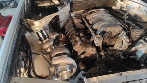Mercedes M113 V8 Turbo & Wastgate in place 4
