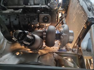 Mercedes M113 V8 Turbo & Wastgate in place 5