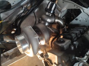 Mercedes M113 V8 Turbo & Wastgate in place 6
