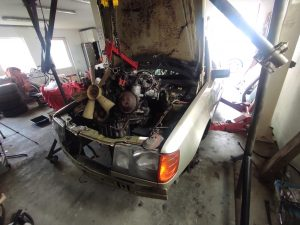 M102 engine removed. space for the V8 turbo 26