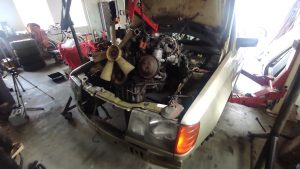 M102 engine removed. space for the V8 turbo 27