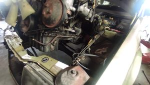 M102 engine removed. space for the V8 turbo 29