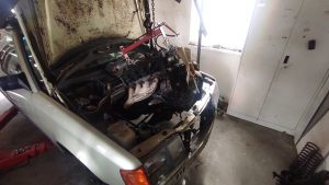 M102 engine removed. space for the V8 turbo 31