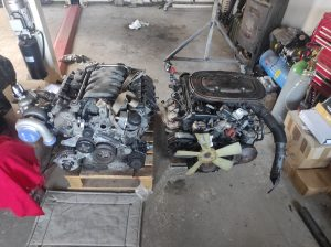 M102 engine removed. space for the V8 turbo 42