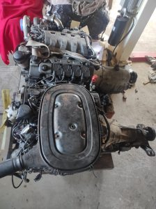 M102 engine removed. space for the V8 turbo 44