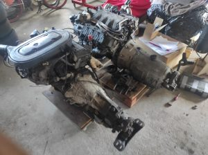 M102 engine removed. space for the V8 turbo 45