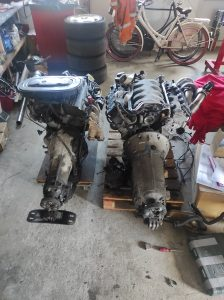 M102 engine removed. space for the V8 turbo 46