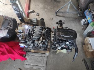 M102 engine removed. space for the V8 turbo 47