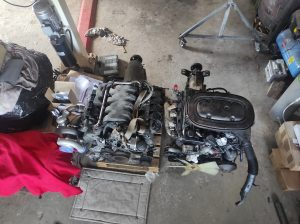 M102 engine removed. space for the V8 turbo 48