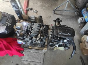 M102 engine removed. space for the V8 turbo 49